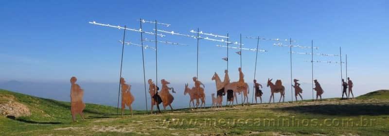 Escultura em ferro no Alto del Perdon - Navarra