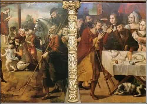 Pintura sobre a lenda, faz parte do retábulo da igreja de Santo Domingo de la Calzada