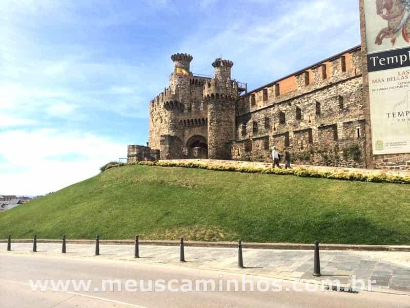Castelo dos Templários, em Ponferrada, no Caminho de Santiago de Compostela.